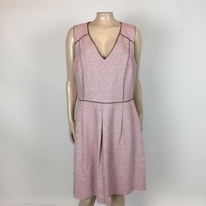 NEW Banana Republic Pink Tweed Dress XL Career Y15